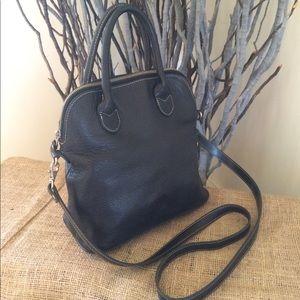 Gap Black Leather Satchel